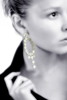 Lovely Earring Stock Photography