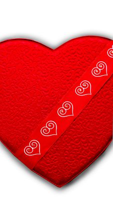 Free Red Heart With Texture Royalty Free Stock Image - 1818496