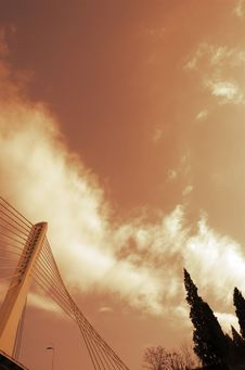 Free Detail Of Modern Bridge And Trees Stock Image - 1819131