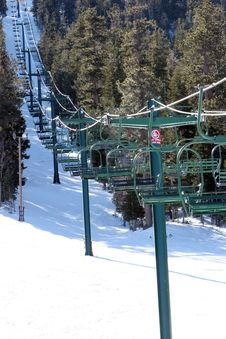 Free Ski Lifts Stock Image - 1819181
