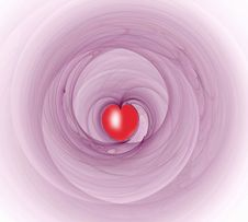 Free Red Heart Shapes Fractal Royalty Free Stock Images - 1819949