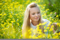 Free Young Teenager Girl With Yellow Flower Royalty Free Stock Images - 18100139