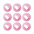 Free Pink Hearts Signs Royalty Free Stock Photo - 18101155