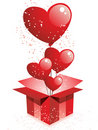 Free Happy Valentine S Day Gift With Balloons Stock Image - 18102041