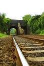 Free Railway Line Leading Under Viaduct Royalty Free Stock Photos - 18104938