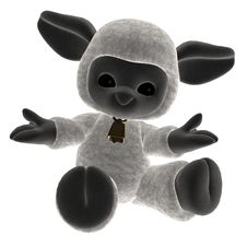 Toy Lamb 2 Royalty Free Stock Photos