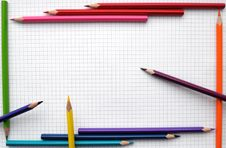 Free Pencils Frame Stock Photography - 18100172