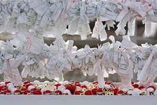 Free Japanese Sacred Lottery Omikuji Stock Images - 18100424