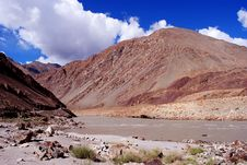 Vibrant Color Of Ladakh Mountains Stock Image