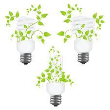 Free Set Power Saving Lamps Royalty Free Stock Images - 18100699