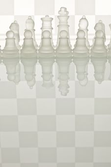 Close-up Of Glass Chess Stock Photos