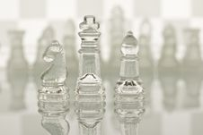 Free Close-up Of Glass Chess Royalty Free Stock Image - 18100926