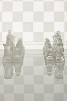 Close-up Of Glass Chess Stock Photo
