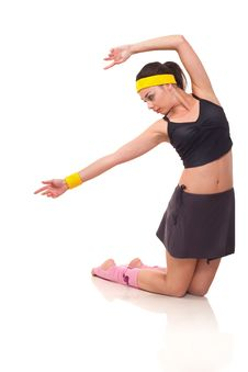 Free Young Girl Doing Exercises Stock Photos - 18101933