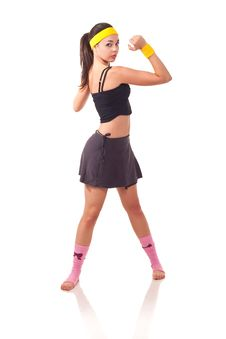 Free Young Girl Doing Exercises Stock Images - 18102004