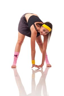 Free Young Girl Doing Exercises Royalty Free Stock Images - 18102019