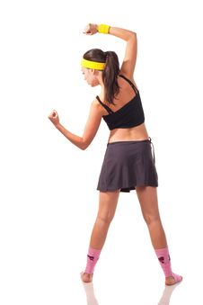Free Young Girl Doing Exercises Stock Images - 18102034