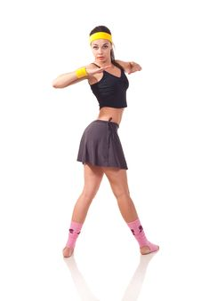 Free Young Girl Doing Exercises Royalty Free Stock Photos - 18102048