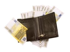 Free Black Purse With Lots Of Banknotes Royalty Free Stock Image - 18102996