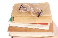Free Pile Of Books Stock Image - 18103101