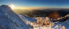 Free A Frosty Sunset Panorama Stock Image - 18103191