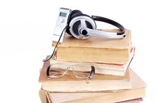 Free Books And Headsets Stock Photo - 18103210