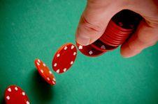 Free Gambling Chips Falling Royalty Free Stock Photos - 18106318