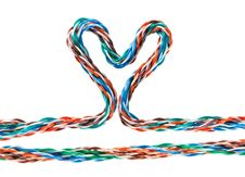 Free Heart Multicolored Computer Cable Royalty Free Stock Image - 18106526