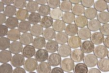 Coins Steps Thai Baht Stock Images