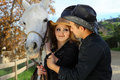 Free Couple With Their Horse Royalty Free Stock Image - 18111516
