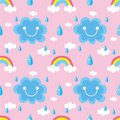 Free Seamless Weather Pattern Royalty Free Stock Photography - 18111897