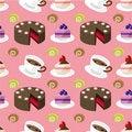Free Seamless Cake Pattern Royalty Free Stock Images - 18112049