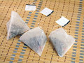 Free Tea Bags In The Shape Of A Pyramid Royalty Free Stock Photo - 18116815