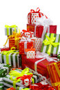 Free Stack Of Gift Boxes Stock Image - 18119881
