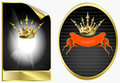 Free Background In Ancient Style With A Gold Crown Royalty Free Stock Photos - 18119898
