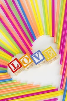 Free Love Straw Heart Royalty Free Stock Photography - 18110227