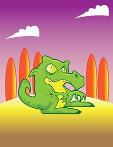 Free Baby Dragon Stock Photo - 18110340