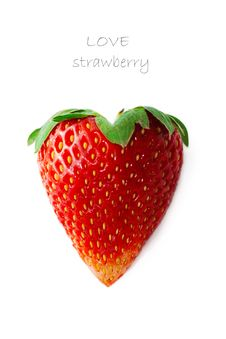 Free Juicy Strawberry In The Form Of Heart Stock Photos - 18110633