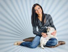 Free Woman And Puppy Stock Photos - 18110653