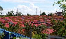 Free Roofs In Red Stock Images - 18111094