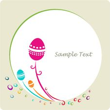 Easter Ornamental Decorative Frame Royalty Free Stock Photos