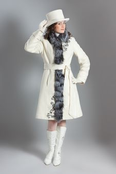 Free Girl In Fur Coat Royalty Free Stock Photography - 18111197