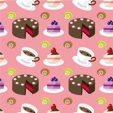 Seamless Cake Pattern Royalty Free Stock Images