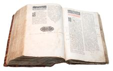 Ostroh Bible, Published In 1581 Stock Image