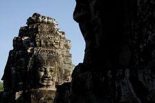 Free Bayon Face, Cambodia Royalty Free Stock Photo - 18112835