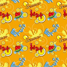 Free Seamless Summer Pattern Royalty Free Stock Photo - 18112925