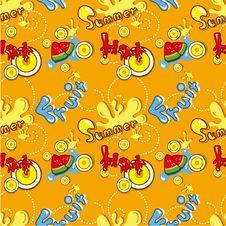 Seamless Summer Pattern Royalty Free Stock Photo