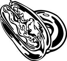 Free Hotdog. FastFood. Stock Image - 18113041
