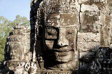 Free Bayon Face, Cambodia Stock Photography - 18113082