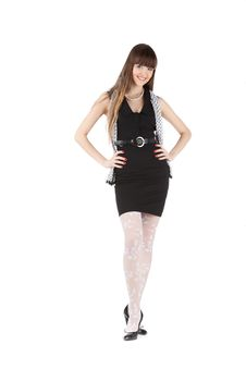 Free Beautiful Woman In Black Royalty Free Stock Photos - 18113108